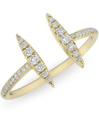 Anne Sisteron | 14kt Yellow Gold Diamond Double Tower Ring | Lyst