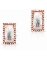 Anne Sisteron - 14kt Rose Gold Diamond Mother Of Pearl Sara Stud Earrings - Lyst