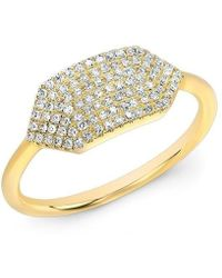 Anne Sisteron - 14kt Yellow Gold Diamond Buckle Ring - Lyst