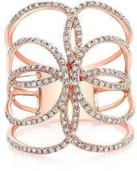 Anne Sisteron - 14kt Rose Gold Diamond Butterfly Ring - Lyst