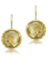 Anne Sisteron - 14kt Yellow Gold Lemon Topaz Earrings - Lyst