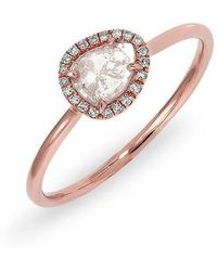 Anne Sisteron - 14kt Rose Gold Diamond Slice Solace Ring - Lyst