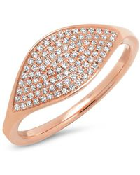 Anne Sisteron - 14kt Rose Gold Diamond Alissa Ring - Lyst