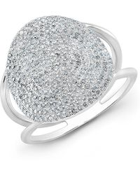Anne Sisteron - 14kt White Gold Diamond Disc Ring - Lyst