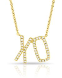 Anne Sisteron - 14kt Yellow Gold Diamond Xo Necklace - Lyst