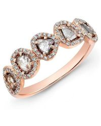 Anne Sisteron - 14kt Rose Gold Diamond Slice Princess Ring - Lyst