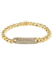 Anne Sisteron - 14kt Yellow Gold Diamond Luxe Id Bracelet - Lyst