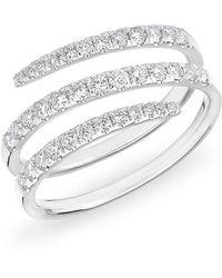 Anne Sisteron - 14kt White Gold Half Diamond Spring Ring - Lyst