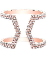 Anne Sisteron - 14kt Rose Gold Diamond Cinder Ring - Lyst