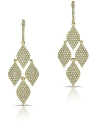 Anne Sisteron | 14kt Yellow Gold Diamond Medium Marquis Earrings | Lyst