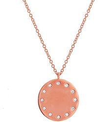 Anne Sisteron - 14kt Rose Gold Diamond Stella Necklace - Lyst