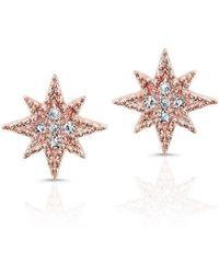Anne Sisteron - 14kt Rose Gold Diamond North Star Stud Earrings - Lyst