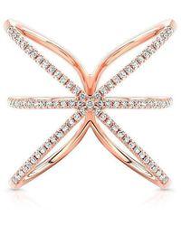 Anne Sisteron - 14kt Rose Gold Diamond Starburst Ring - Lyst