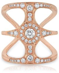 Anne Sisteron - 14kt Rose Gold Diamond Ophelia Ring - Lyst