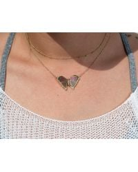 Anne Sisteron - 14kt Yellow Gold Pink Tourmaline Diamond Butterfly Necklace - Lyst