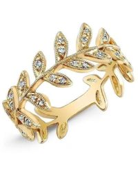Anne Sisteron - 14kt Yellow Gold Diamond Wreath Ring - Lyst