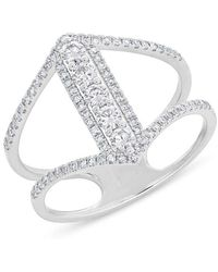 Anne Sisteron - 14kt White Gold Diamond Eliza Ring - Lyst