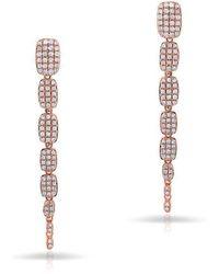 Anne Sisteron - 14kt Rose Gold Diamond Small Sienna Earrings - Lyst