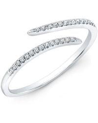 Anne Sisteron - 14kt White Gold Diamond Open Embrace Ring - Lyst