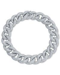 Anne Sisteron - 14kt White Gold Diamond Luxe Chain Link Bracelet - Lyst