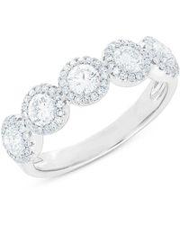 Anne Sisteron - 14kt White Gold Diamond Luxe Lexi Ring - Lyst
