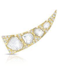 Anne Sisteron - 14kt Yellow Gold Diamond Slice Horn Ear Climber - Lyst