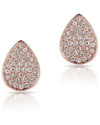 Anne Sisteron - 14kt Rose Gold Diamond Mini Pear Stud Earrings - Lyst