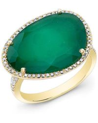 Anne Sisteron - 14kt Yellow Gold Green Onyx Organic Diamond Cocktail Ring - Lyst