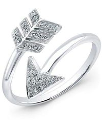 Anne Sisteron - 14kt White Gold Diamond Wrap Around Arrow Ring - Lyst