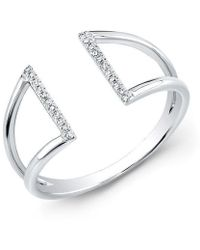 Anne Sisteron - 14kt White Gold Diamond Space Ring - Lyst