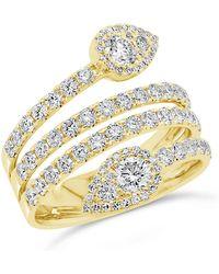Anne Sisteron - 14kt Yellow Gold Diamond Viper Ring - Lyst