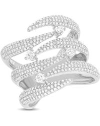 Anne Sisteron - 14kt White Gold Diamond Flame Tip Ring - Lyst