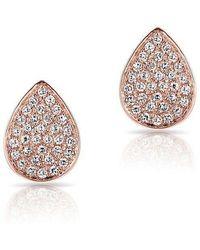 Anne Sisteron - 14kt Rose Gold Diamond Mini Pear Stud Earrings - Lyst