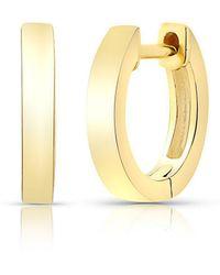 Anne Sisteron - 14kt Solid Yellow Gold Huggie Earrings - Lyst