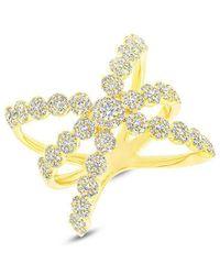 Anne Sisteron - 14kt Yellow Gold Diamond Harper Ring - Lyst