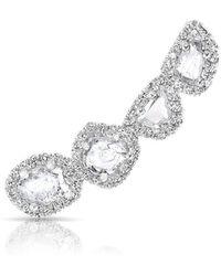 Anne Sisteron - 14kt White Gold Diamond Slice Ear Climber - Lyst