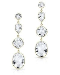 Anne Sisteron - 14kt Yellow Gold White Topaz Quadruple Drop Earrings - Lyst