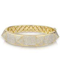Anne Sisteron - 14kt Yellow Gold Diamond Reve Bangle Bracelet - Lyst
