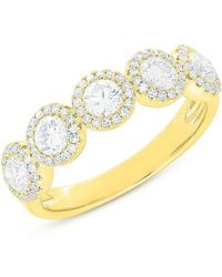 Anne Sisteron - 14kt Yellow Gold Diamond Luxe Lexi Ring - Lyst