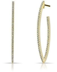 Anne Sisteron - 14kt Yellow Gold Diamond Moderna Wishbone Earrings - Lyst