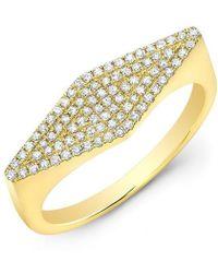 Anne Sisteron - 14kt Yellow Gold Diamond Kite Ring - Lyst