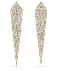 Anne Sisteron - 14kt Yellow Gold Diamond Spear Earrings - Lyst
