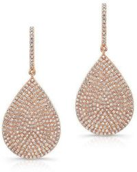Anne Sisteron | 14kt Rose Gold Diamond Large Pear Shape Earrings | Lyst