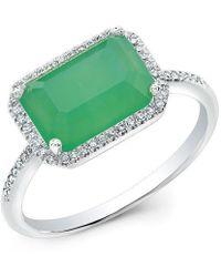 Anne Sisteron - 14kt White Gold Chrysoprase Diamond Chic Ring - Lyst