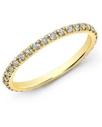 Anne Sisteron - 14kt Yellow Gold Diamond Luxe Eternity Stacking Ring - Lyst