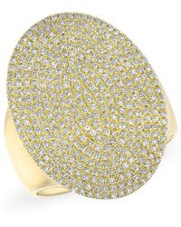 Anne Sisteron - 14kt Yellow Gold Diamond Aegis Ring - Lyst