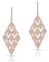 Anne Sisteron - 14kt Rose Gold Diamond Triangle Chime Earrings - Lyst