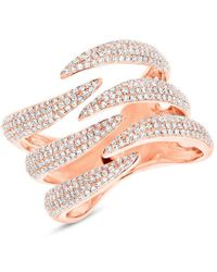 Anne Sisteron - 14kt Rose Gold Diamond Flame Ring - Lyst
