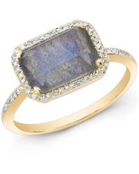 Anne Sisteron - 14kt Yellow Gold Labradorite Diamond Chic Ring - Lyst