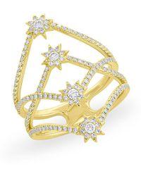 Anne Sisteron - 14kt Yellow Gold Diamond Fireworks Ring - Lyst